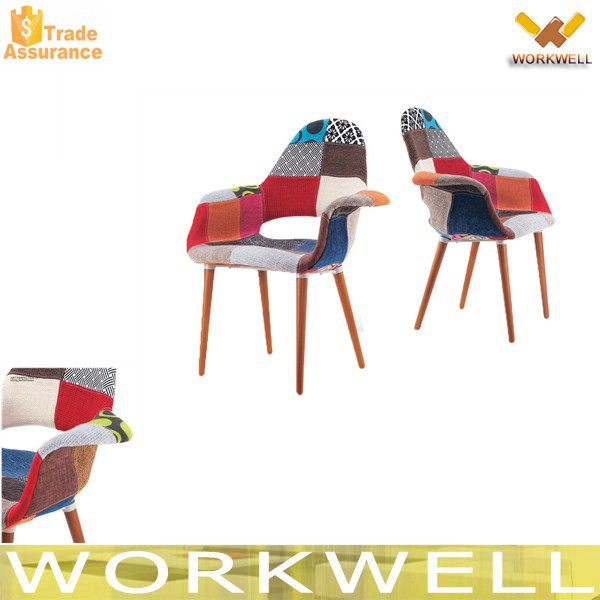 WorkWell Modern Plastic Fabric Dining Chair Kw-P40