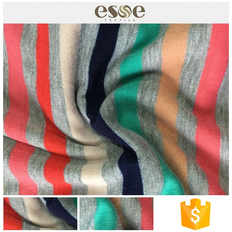 Shaoxing textile poly spun polyester ring spun single jersey fabric