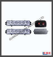 Amber White 6-LED 6W High Power Emergency Car Dash Warning Strobe Flashing Lighting Kit LB1015-2