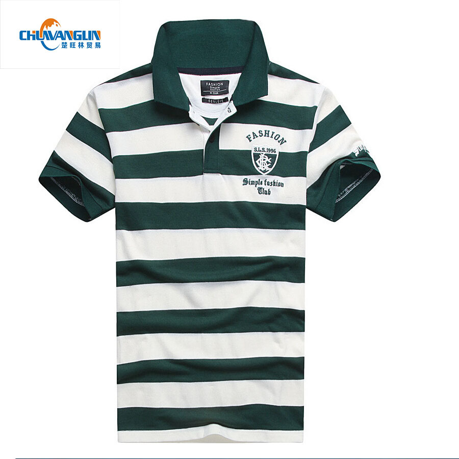 E2 Fashion new 2015 hot striped men polo shirt short cotton contrast color polo shirt summer style anti-pilling shirt polo