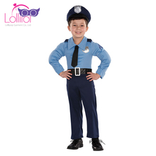 Wholesale halloween cosplay costume party themes children police costume boys