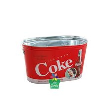 New BBQ Galvanized Metal Beverage tub steel Ice Bucket Tin Coke Soda Beer Party