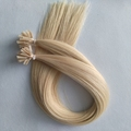 Top grade blonde color U tip hair cheap price russian pre-bonded hair extensions for white women
