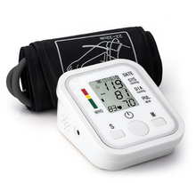 Health Care LCD Digital Blood Pressure Monitor Meter Full Automatic Upper Arm Cuff Tonometer Sphygmomanometer Heart Rate Monitor