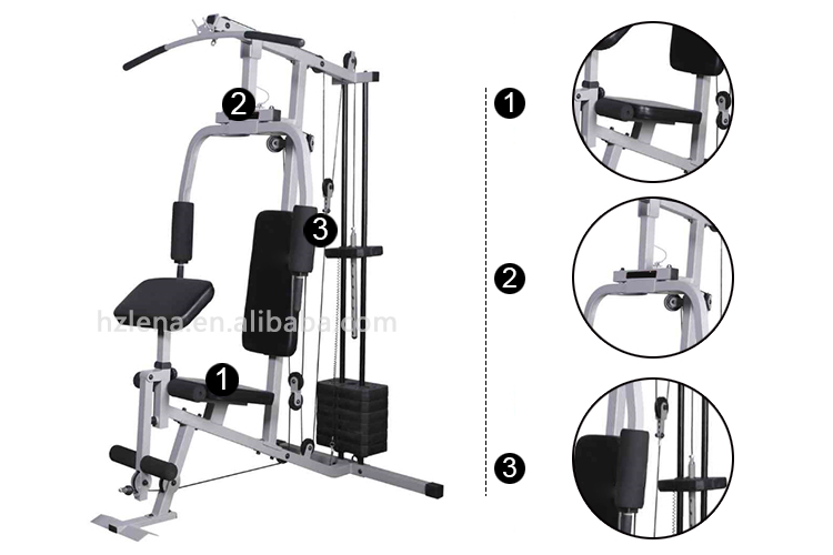 Home multi station gym fitness exercise