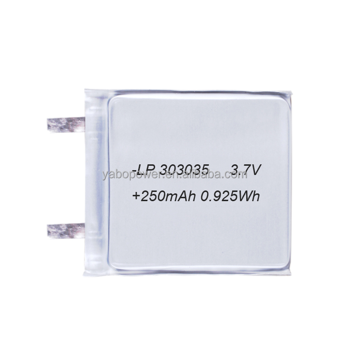 3.7v lipo battery 250mah lithium polymer battery for power bank gps tracker mp3 mp4