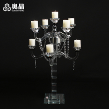 Cheap wedding decoration crystal candelabra crystal drops