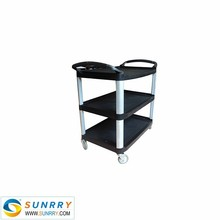 Quality and good price hotel trolley room service cart restaurant service cart PP service cart 3 Layers (SY-FSC31A SUNRRY)