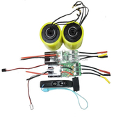 Hot Sale Complete Set Twin Drive 72mm Hub Motor with VESC and Remotr Controller for Electric Skateboard