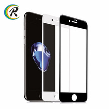 2017 silk print Full Cover Screen Protector for iPhone 7 tempered glass curved