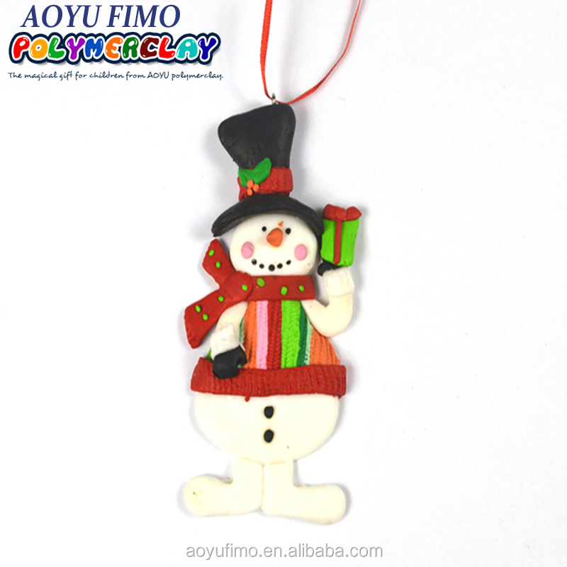 2015 Yiwu China suppliers polymer clay snow party decoration christmas Aliexpress hot sell