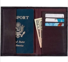 Good value card holder men travel ID card cover leather passport wallet