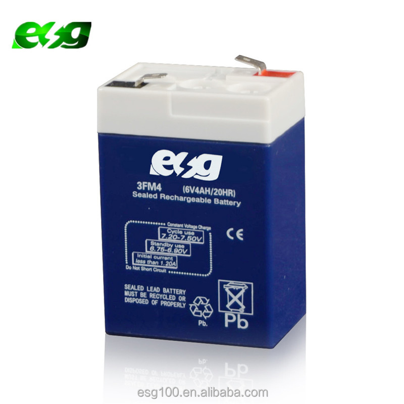 Lead acid battery 4v 4.5AH rechargeable vrla battery for ups