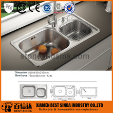 18 gauge kitchen used stainless sink wash basin