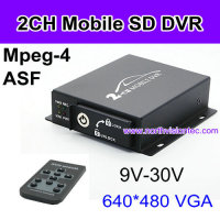 128G SD card DVR 2ch mobile MINI DVR for bus TAXI truck