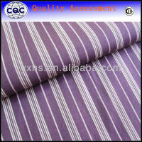 100% cotton yarn dyed purple and white striped fabric for shirt