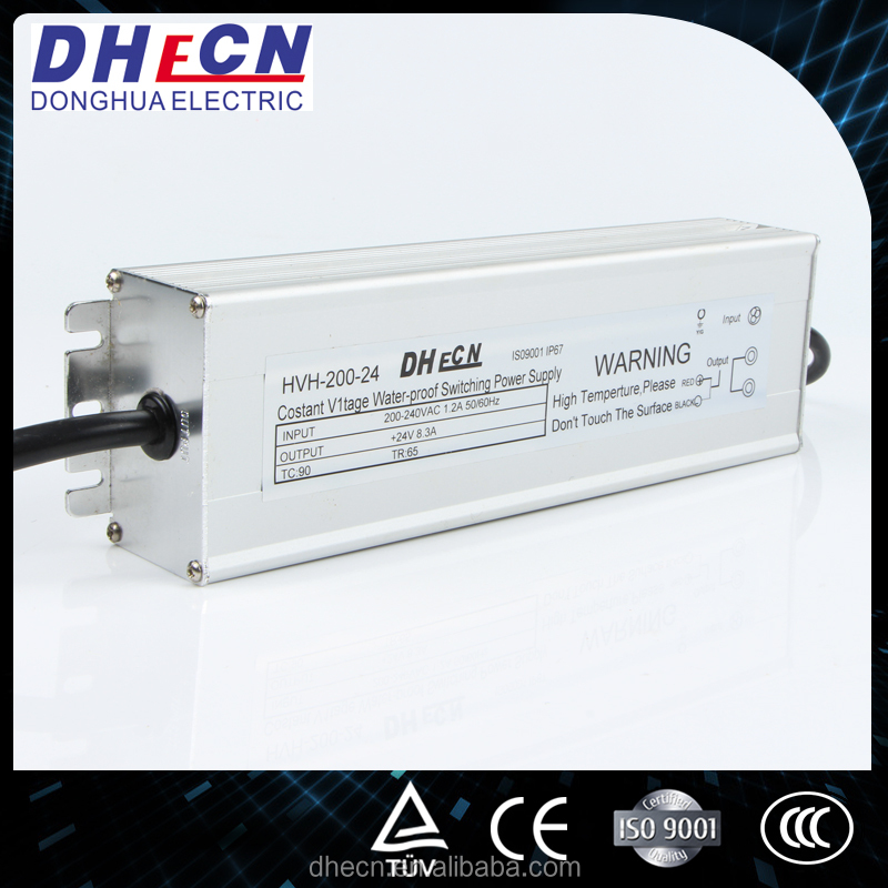 HVH-200-24, 200W, 24VDC, 8.3A LED Driver switching power supply