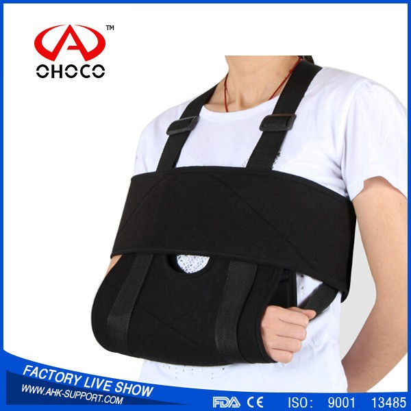 the Newest Neoprene Nylon Broken Arm Sling with Hook and Loop,customerized promotion logo colorful adjustable padded arm sling