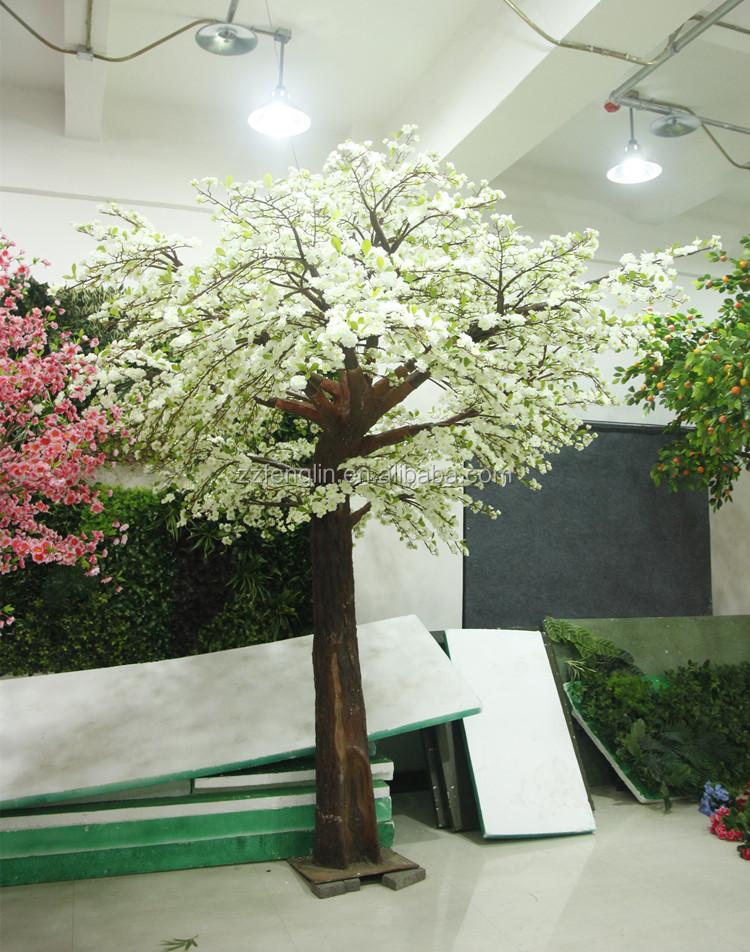 New design fiberglass artificial silk cherry blossom trees for Cherry trees for sale