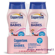 Natural Coppertone Water Babies sun screen lotion spf 50 foundation