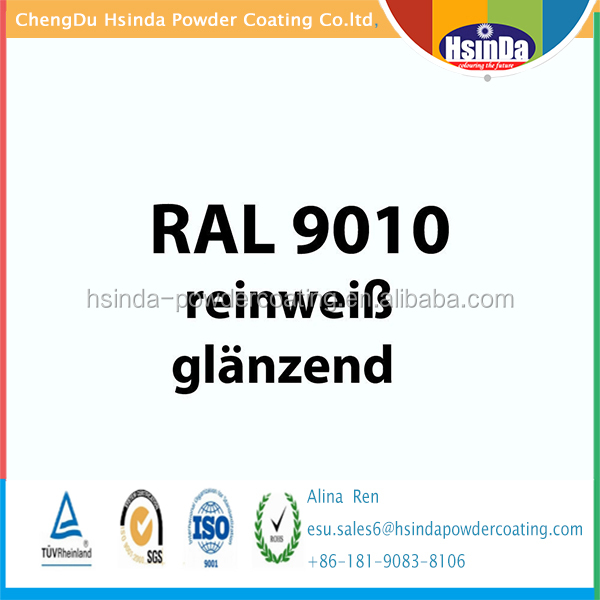 Ral color Ral 9010 Pure White powder coating powder paint