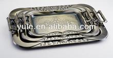 YULE Stainless Steel Hotel Serving Tray with handle