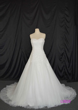 2016 guangzhou luxury sweetheart heavy beaded sequin tulle A-line wedding dresses