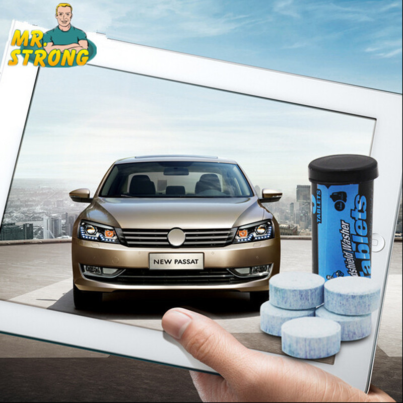 Car windshield washer tablet