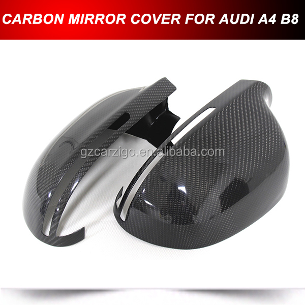 REAL CARBON FIBER MIRROR COVERS FOR AUDI A4 S4 B8 A5 S5 8T 2008-2014