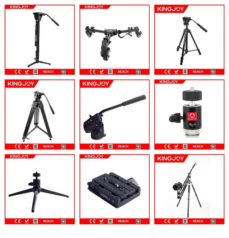 KINGJOY Professional 7.5kg Payload High Quality Aluminum Alloy Video Camera Tripod Kit VT-2500 for Video Studio Shooting