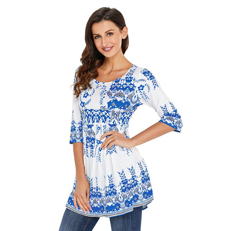 E Toy Word Temperament Women Shirt Long Sleeve 2019 Spring Two Piece Chiffon Shirt Flare Sleeve Long Shirt Top Fashion Design Women's Clothing