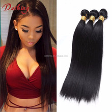 Unprocessed 100% Virgin Filipino Hair Silky Straight Human Hair Weave Extension For Sex Women