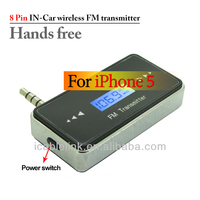 LCD Wireless Rechargeable FM Transmitter Car Audio with Handsfree for iPhone 4 4S 5 6 iPod Touch iPad 2 3 4 ipad mini