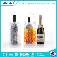 2 person bottle cooler,durable customized wine bottle cooler bag,plastic cooling liquid bottle cooler