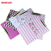 Fashion new design A4 gold printed paper cover clipboard