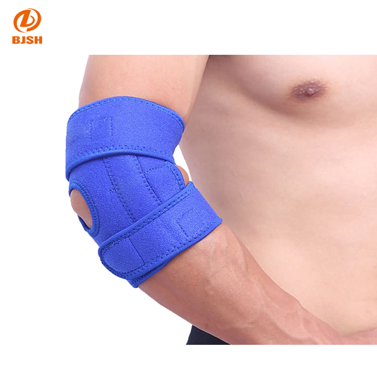 Professional comfortable elbow support with two springs for sports