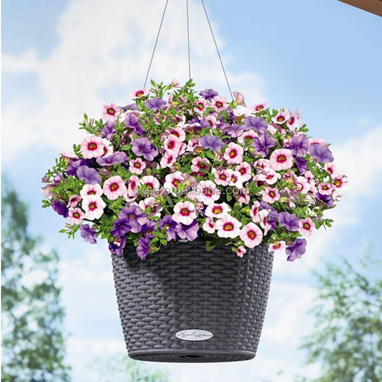 round shape garden flower pots indoor and outdoor hanging. Black Bedroom Furniture Sets. Home Design Ideas