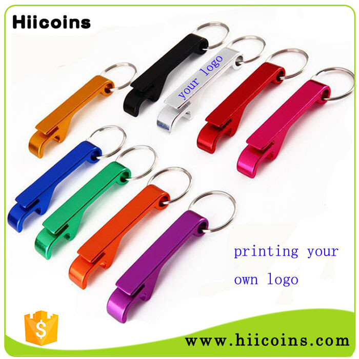 aluminum colorful bottle opener promotion gift keyring