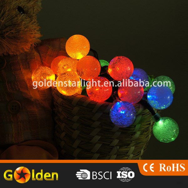 Best Price Lanterns Hanging Color Solar Lights Lamp 10 LED Beads Outdoor Garden Light String for Christmas