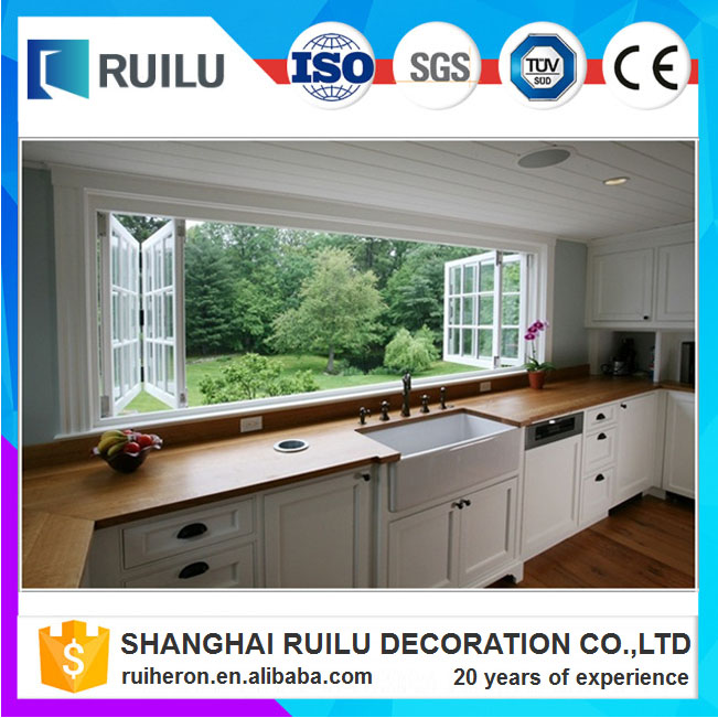 China windows aluminium double glazed windows folding glass window ventilation bifold window