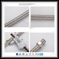 stainless steel ss304/ss316L corrugated flexible metal hose/pipe/tube