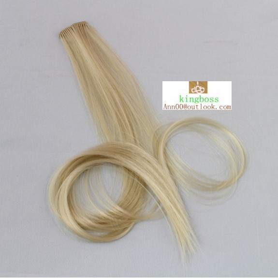 Colorful Clips in Hair Extension Synthetic #10 blonde New Arrival 2Pcs Colorful Clips in Hair Extension Synthetic #10 blonde