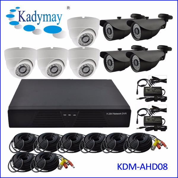 2016 HOT!!! 8ch HD Dvr System kits,8ch cctv camera system,ready to use home security product