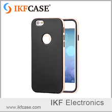 New released graceful mobile phone cover for iphone 5 5S with baking varnish frame and silicone back cover