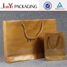 Manufacture logo printed custom eco friendly glossy brown kraft handmade gift paper bag