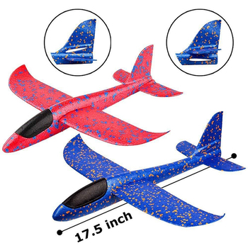 Hot Selling Soft Children EPP Foam Throwing Convolution Glider Airplane Model Toy