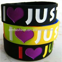 Fancy Wholesale I love Justin Bieber Cheap Custom Silicone Bracelets