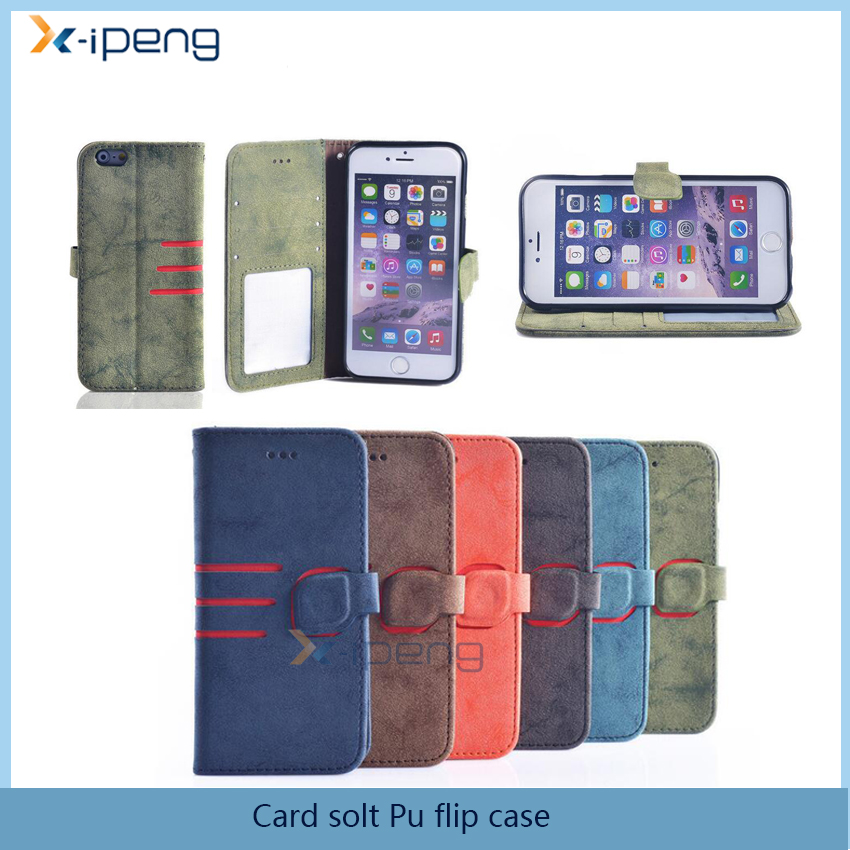 New custom card solt Pu flip case for samsung galaxy core i8260 i8262, for samsung x3