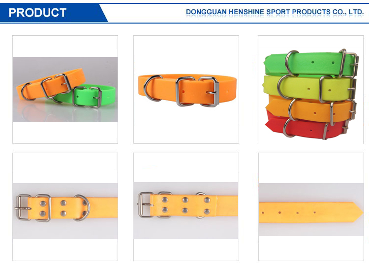 Durable Rubber Training waterproof Dog Collar