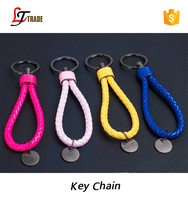 2016 new arrival wholesale cheap soft leather keychain keyring